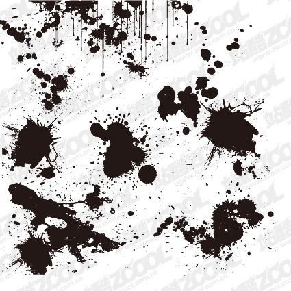 Практические чернила блот вектор материал