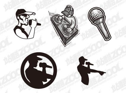 musique hip hop matériel de vecteur de Dj