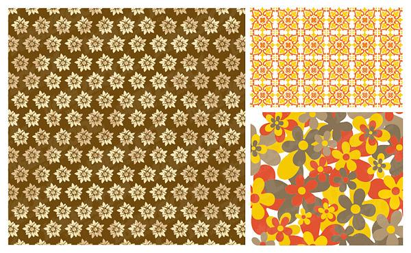 実用的な花パターン ベクトルの背景