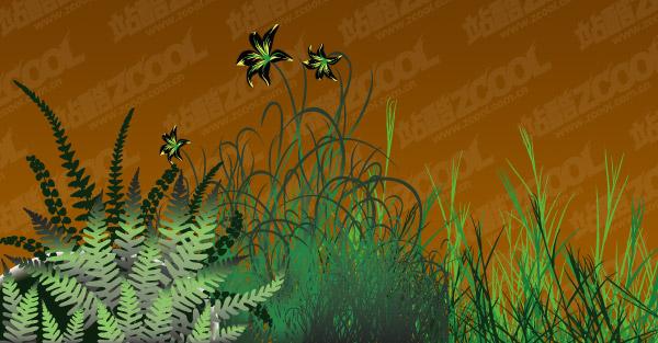 ดอกไม้ vector วัสดุ