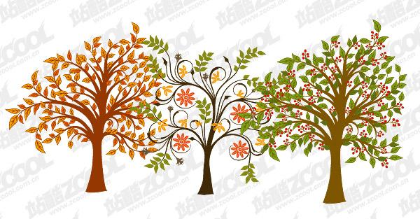 деревья векторный материал