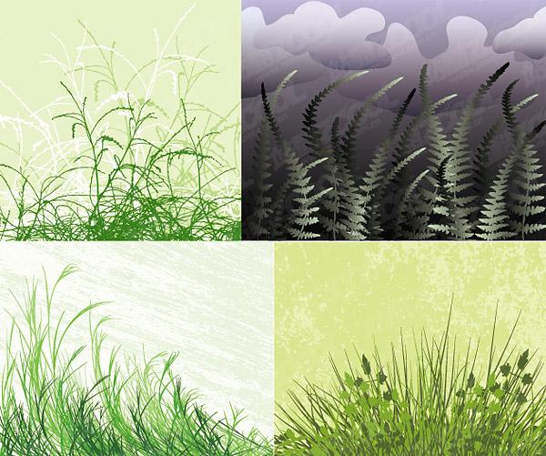 hierba de material de vectores