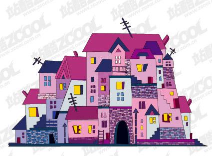 Vektor-Illustration-Haus-material