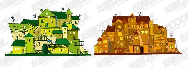 Material de casa de ilustración vectorial -2