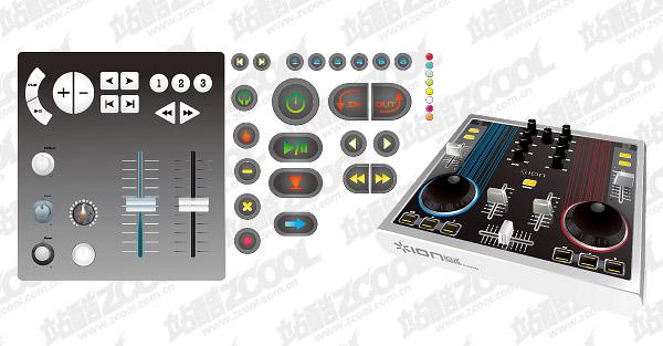DJ Mixer-Taiwan-Vektor-material