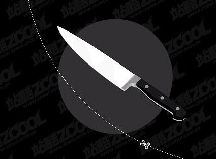 Material de vectores de cuchillo de acero inoxidable