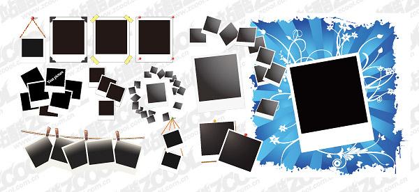 รูปถ่าย Polaroid ของเวกเตอร์ลักษณะวัสดุ