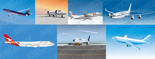 material de vetor de avião civil