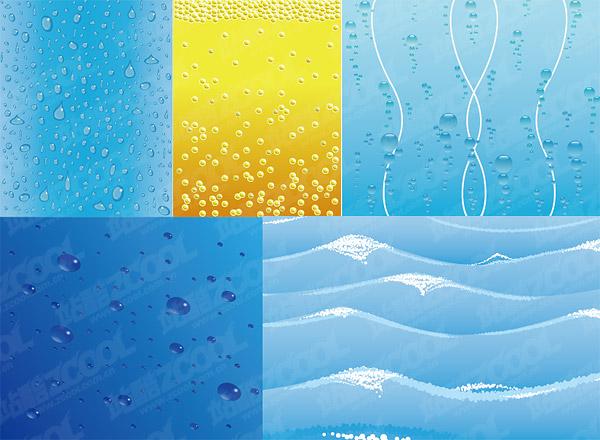 material de antecedentes relacionados con el agua de vectores