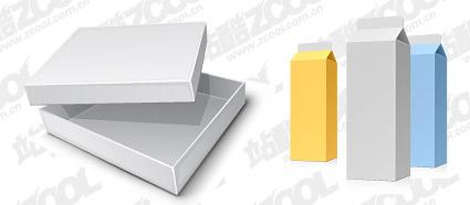 飲料カートン ボックス空白のベクター素材