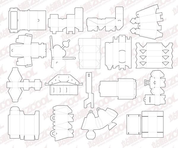 cuadros de diversos materiales de plantilla vector