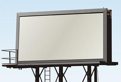 空白の大規模な屋外ビルボード画像素材-4