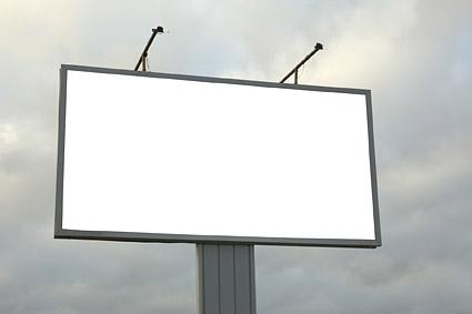 En blanco gran cartelera al aire libre imagen material-5
