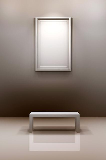 ホールの椅子の画像フレーム素材