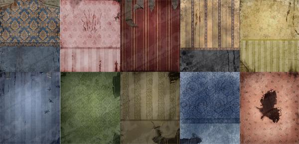 大陸のボロボロの壁の壁紙画像素材-1