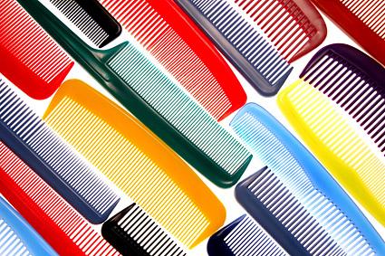 Material de imagem de plano de fundo colorido pente