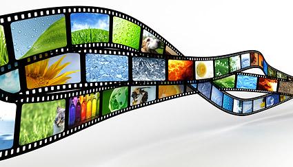 Material de fotografía de la película dinámica