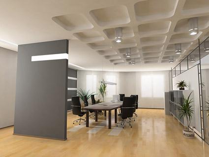 明るい絵材料会議室