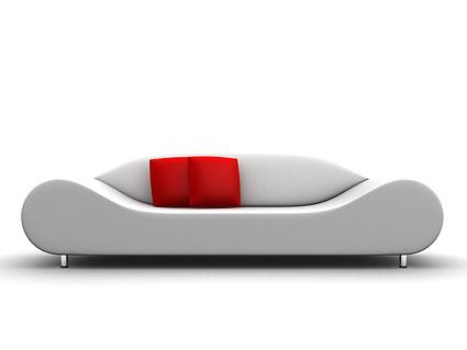 material de imagem 3D produzido sofá