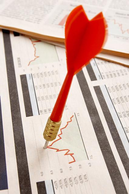 Красный Dart фотография материал