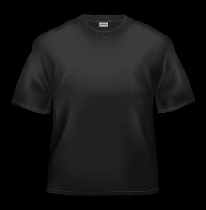 空白の黒 t シャツ画像素材