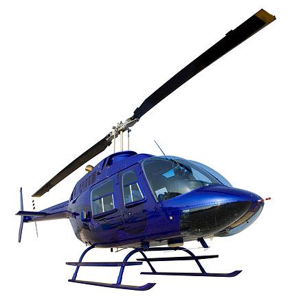 青いヘリコプター画像素材