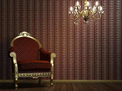 Chaises et du matériel photo de lustre