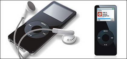 matériau de vecteur iPod