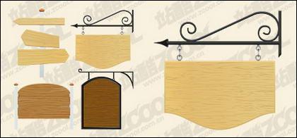 Vecteur de panneaux de bois