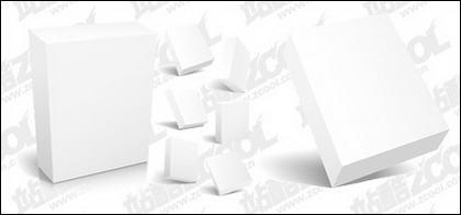 matériau de vecteur de modèle vide de boîte 3D