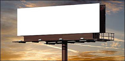 Grandes lacunas no exterior na billboard imagem material-1.
