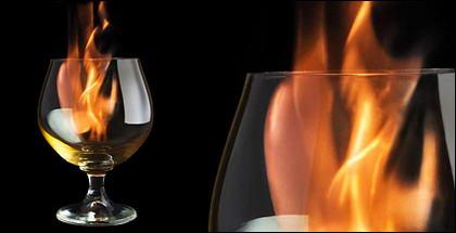 火炎写真材料中のワインします。