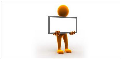 3D con poca imagen material de tablón de anuncios