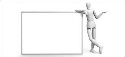 基板材料の会報 3D の画像人形劇
