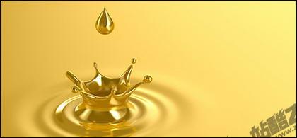 Золото падает рисунка материала