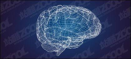 Modèle 3D de la matière de vecteur de cerveau-style