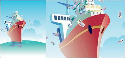 Illustré le thème de la navigation commerciale