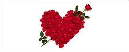 Pétalos de Rosa se compone de material de imagen en forma de corazón