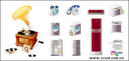 Les appareils ménagers de téléphone matériel de vecteur icône