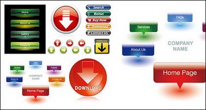 Web atractivo diseño botón icono material de vectores