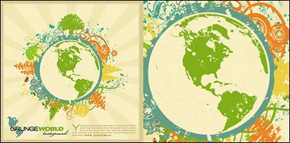 Objet terre marée vector illustration matériel