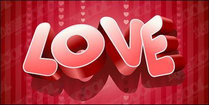 Matériau de vecteur tridimensionnelle LOVE
