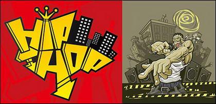 Tendance d'illustration vectorielle matériel de musique hip hop