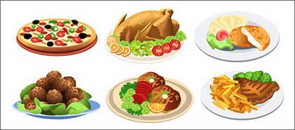 Matières de vecteur de style occidental alimentaire