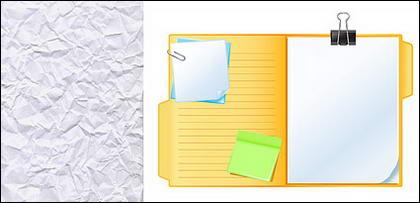 Très ridé et les notes du livre blanc de vecteurs matériel