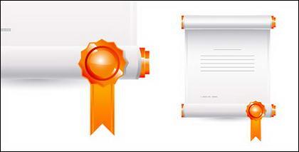 Les certificats de mention élogieuse du vecteur de matériau