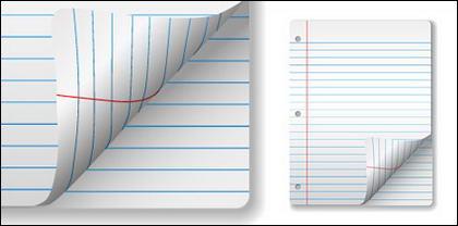 Matériau de papier vierge notebook vecteur
