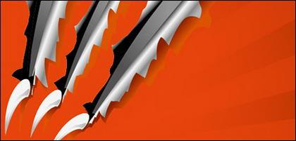 Griffes coupés à travers le vecteur de matériels de papier