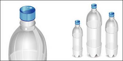 Matériau vide de vecteur bouteille