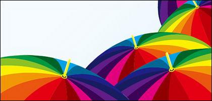 Vecteur de la couleur de la matière de parapluie